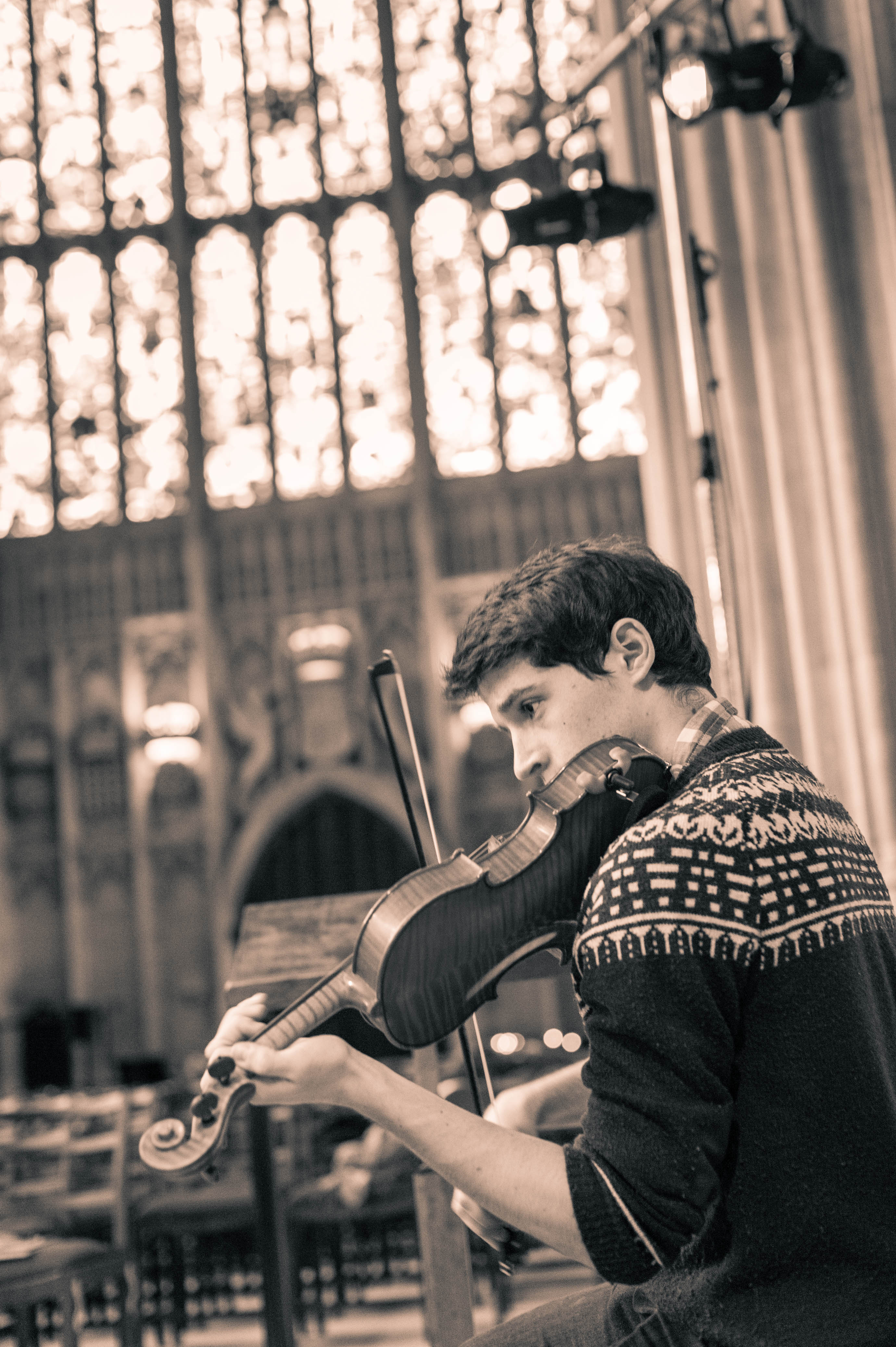Cambridge University Musical Society practicing in King's College Chapel