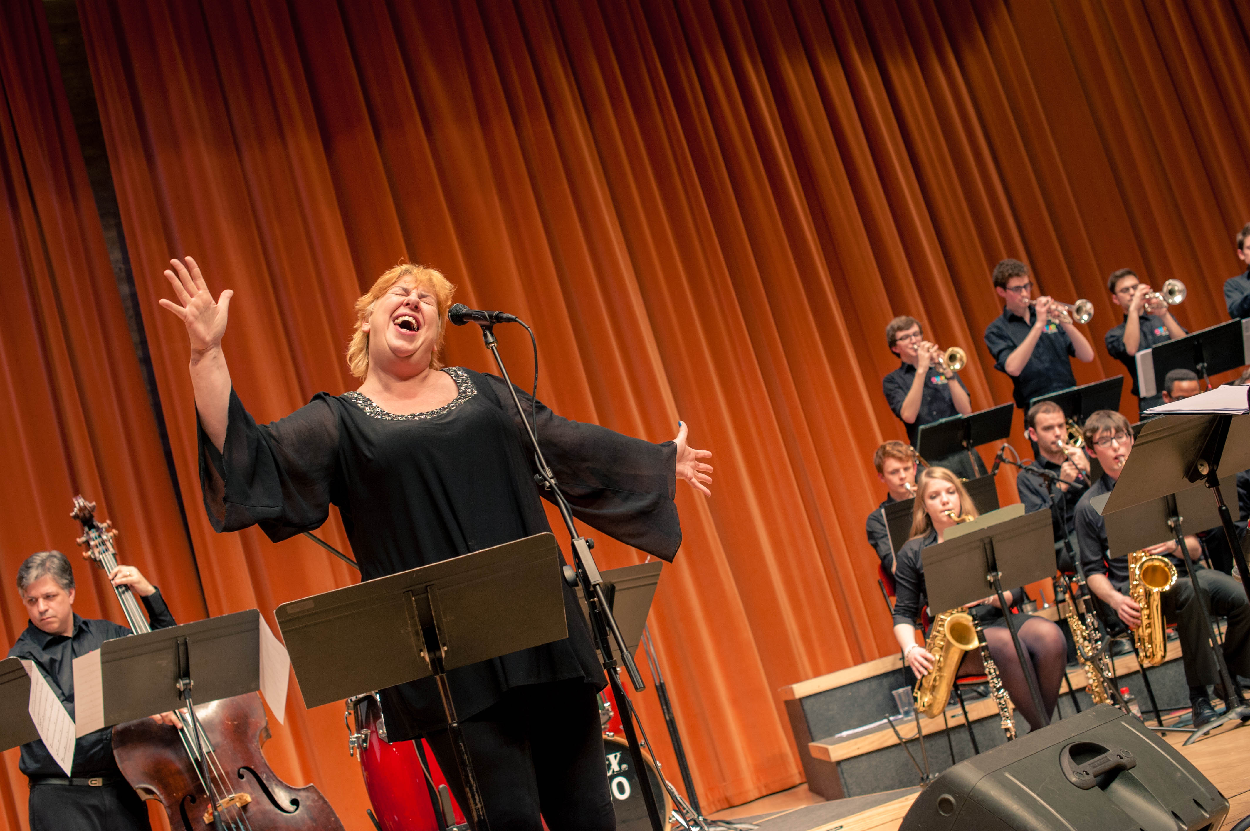 Liane Carroll performing with Cambridge University Jazz Orchestra