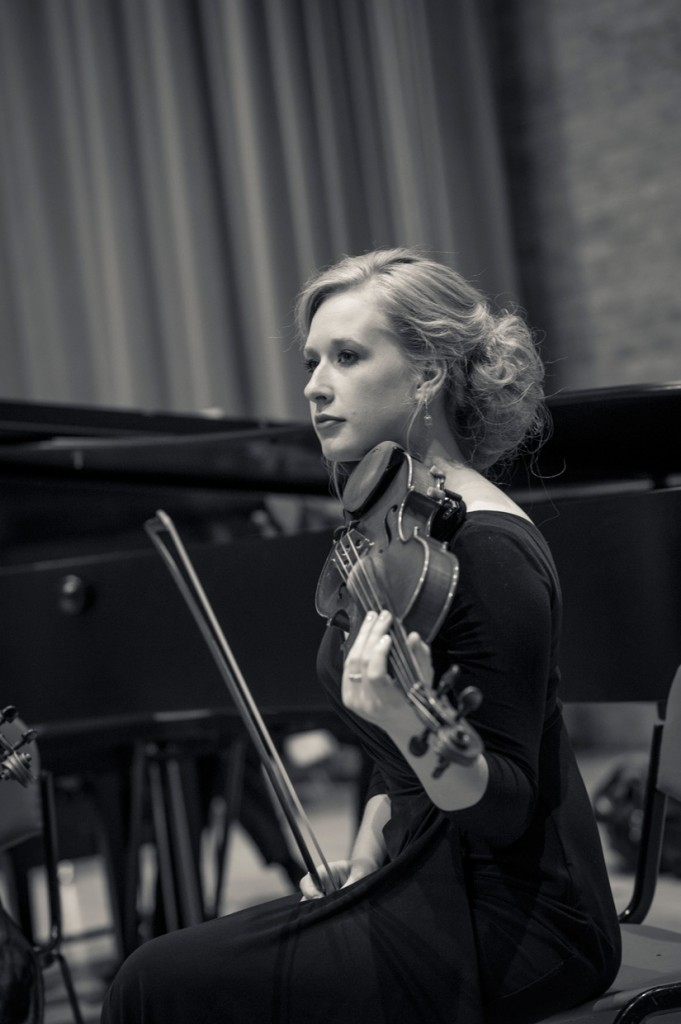 Grace Catherine Greiner playing the violin