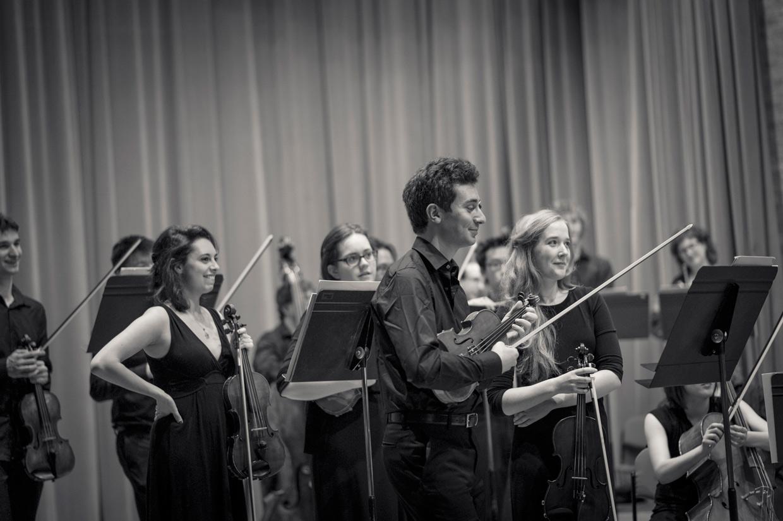 West Road Concert Hall orchestra closeup
