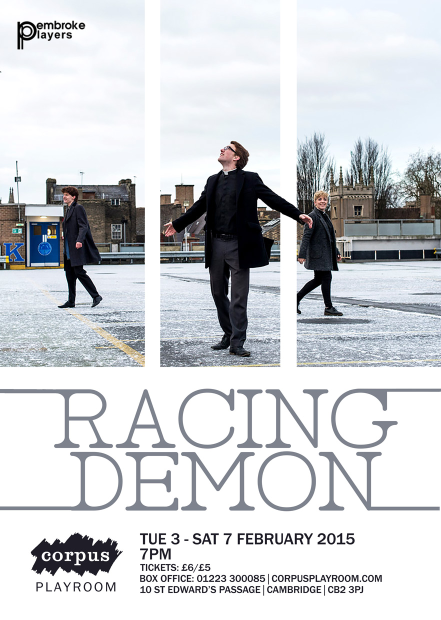 Fantastic poster for Racing Demon by Hannah Grace Taylor
