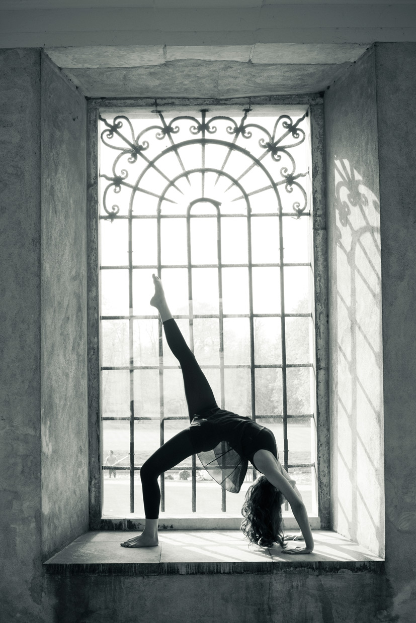 Acrobatic Anahita Talwar at Trinity College