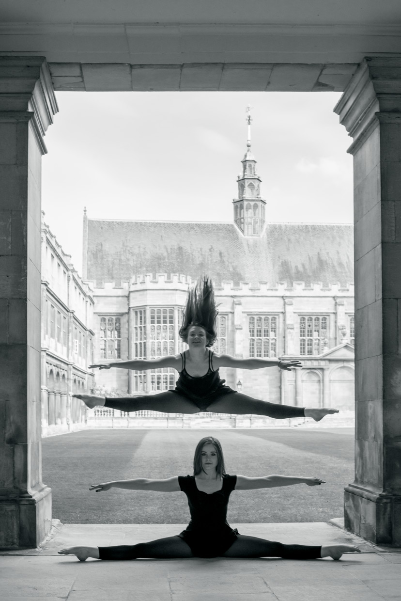 Domy Cooper and Holly Rachel Willis creates a beautiful stacked pose with prefect parallel lines.