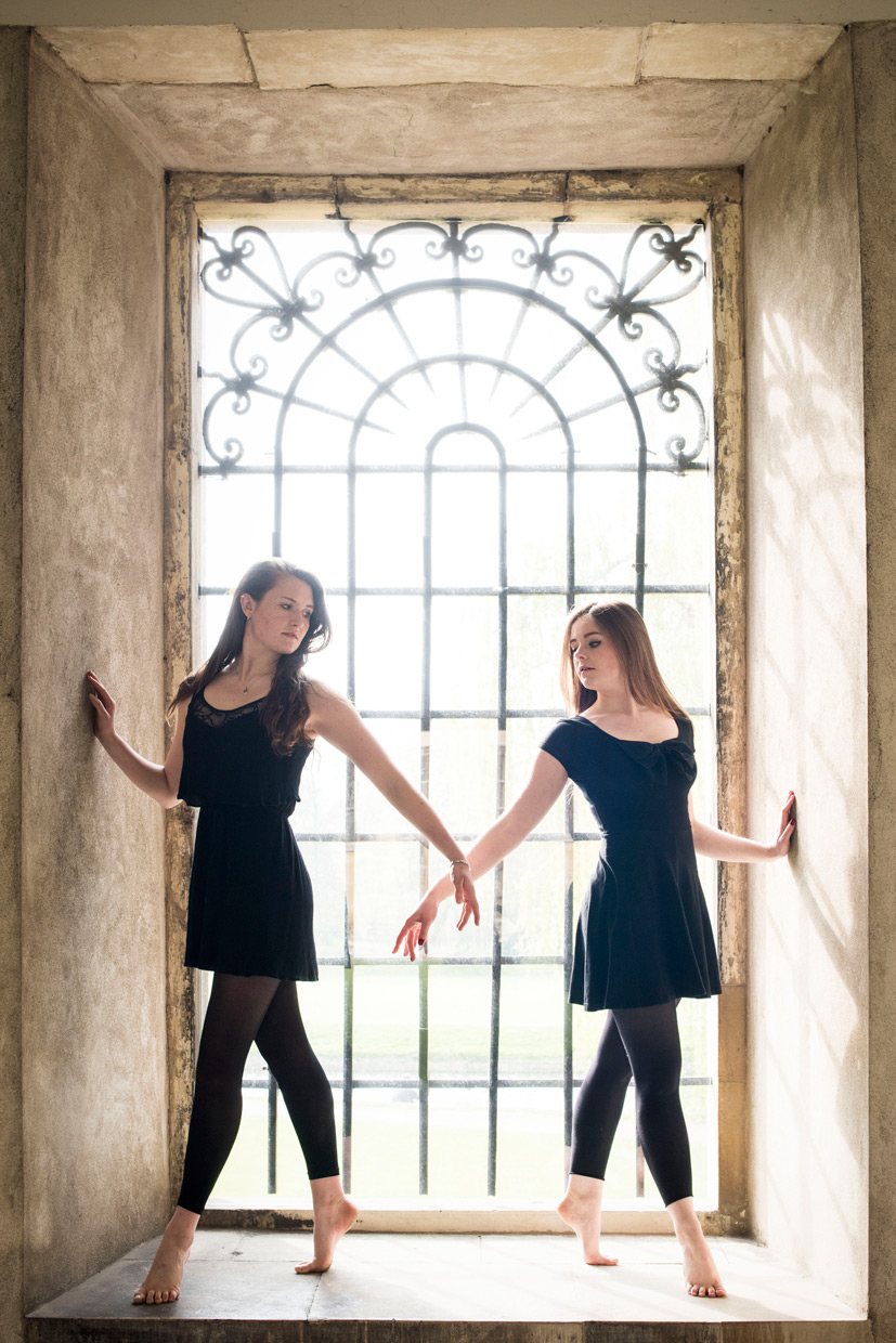 Domy Cooper and Holly Rachel Willis posing at Trinity College.