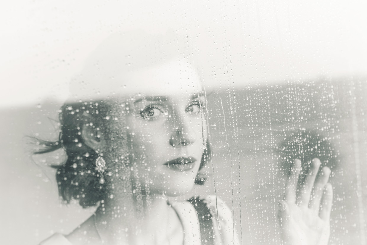 Hannah Taylor looking out the window