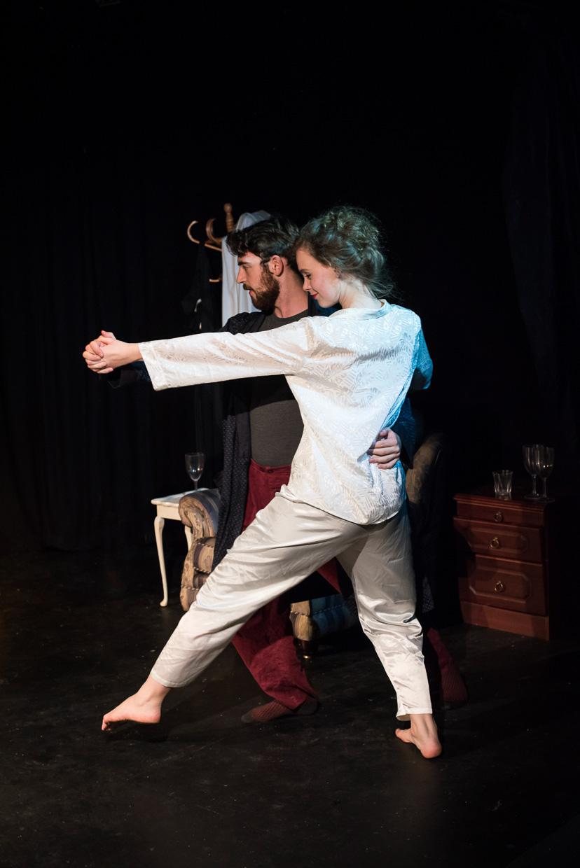 Bethan Davidson and Will Bishop dancing