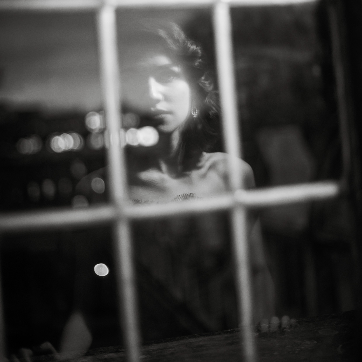 Reflection in the window of Hannah Taylor