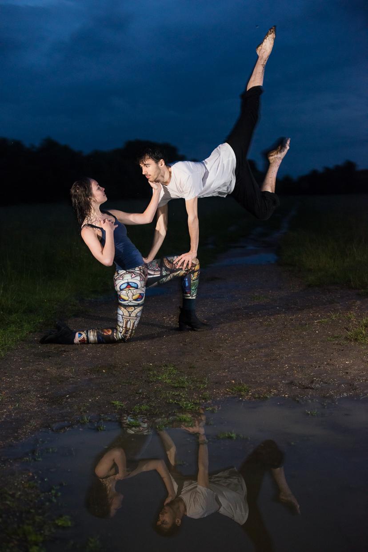 Annie Magee and Rafael San Martin jumping