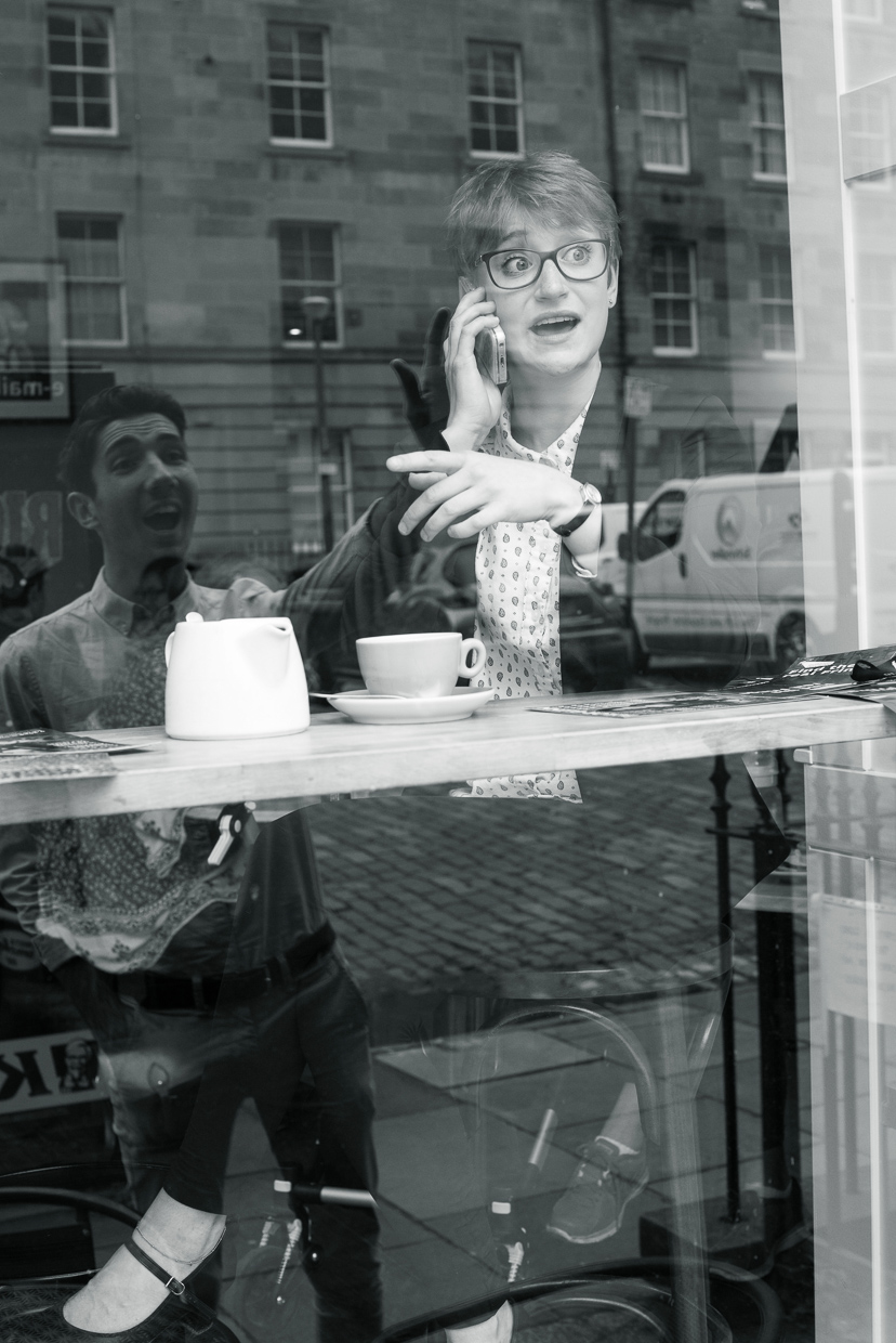 Ashleigh in a cafe