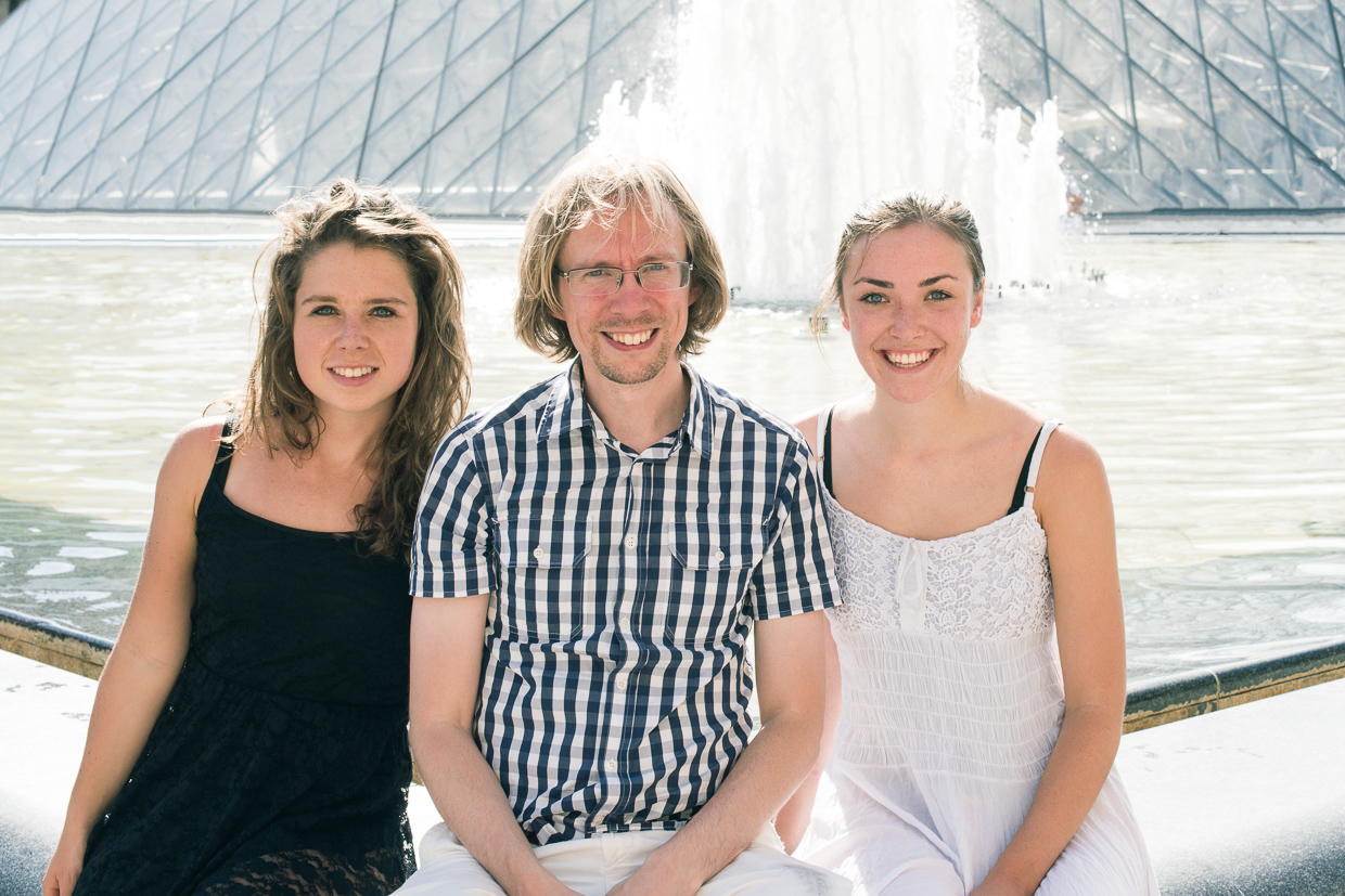 Genevieve McMahon, Johannes Hjorth and Anny Magee at the Louvre