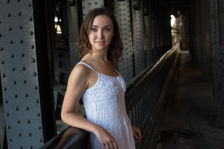 Annie Magee under a bridge in Paris