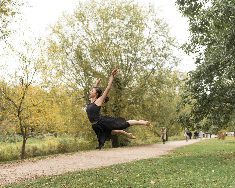 Daphne Chia jumping