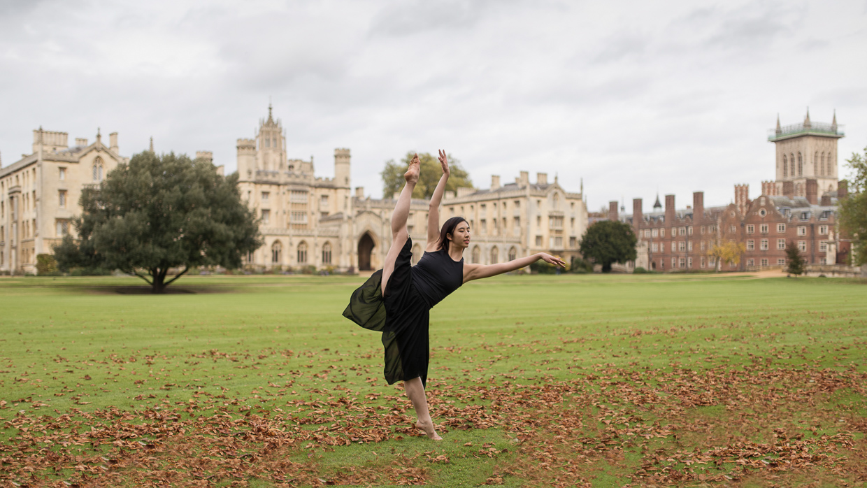 Daphne Chia dancing at St John's College